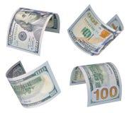 100 dollarsrekeningen Royalty-vrije Stock Afbeeldingen
