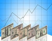 Dollarstentoonstelling royalty-vrije illustratie