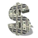 dollarsymbol för valuta 3d royaltyfri foto