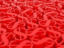 Dollarsymbolen Royalty-vrije Stock Afbeeldingen