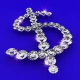 Dollarsymbolformdiamant-Kunstabbildung Stockfotos
