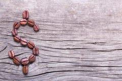Dollarsymbool van koffiebonen Stock Afbeelding