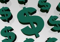 dollartecken stock illustrationer