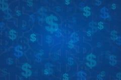 Dollartecken för bakgrund Royaltyfri Fotografi