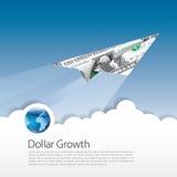 Dollartillväxt stock illustrationer