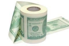 DollarToilettenpapier stockbild