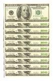 dollarvägg royaltyfri bild