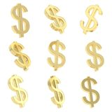 Dollarvalutatecknet framför Arkivfoton