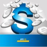 Dollarvektor stock illustrationer