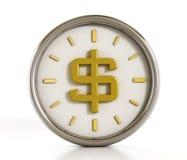 Dollarvorm binnen de klok Royalty-vrije Stock Foto's