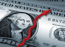 Dollarwiederanlauf lizenzfreie stockfotografie