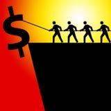 Dollarwirtschaftlichkeit lizenzfreie abbildung