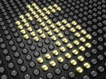 Dollarzeichen gebildet durch glühende Kugeln lizenzfreie abbildung