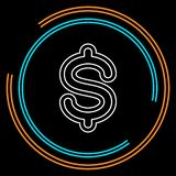 Dollarzeichenikone, Währungszeichen - Geldsymbol lizenzfreie abbildung