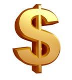 Dollarzeichenillustration Stockfotografie