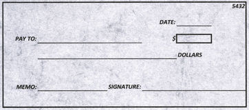 Dollas Cheque Royalty Free Stock Photography