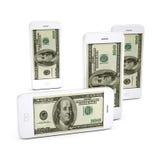 Dollas do telefone móvel. Imagem de Stock