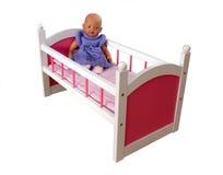 娃娃床 免版税库存照片