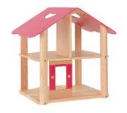 Dollhouse en bois de jouet Images stock