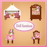 Dollhouse furniture for children's room Royalty Free Stock Image