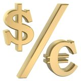 Dollor euro symbol Stock Image