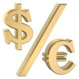 Dollor Eurosymbol stock abbildung