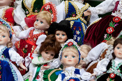 Dolls. Traditional Czech dolls in Prague Royalty Free Stock Photography