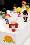 Dolls. Japanese dolls photographed with shallow depth of field and focus on one of them Stock Image