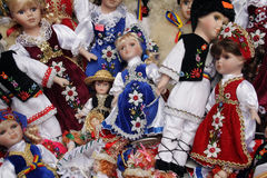 Dolls. Russian dolls representing different indigenous costumes Royalty Free Stock Images
