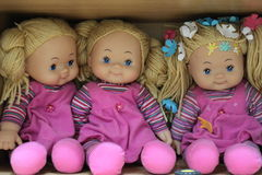 Pink dolls Stock Images