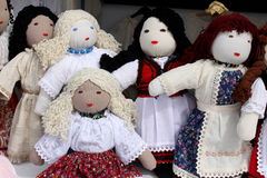 Dolls. Handmade dolls decorated and dressed in traditional clothes Stock Photography