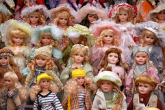 Dolls. Standing dolls, shot from a pedlar in a park Royalty Free Stock Photos