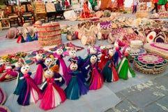 Dolls, art work , Indian handicrafts fair at Kolkata Stock Photography