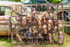 Dolls in Box Springs Royalty Free Stock Photography