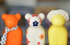 Dolls ceramics. Design in garden Stock Photo