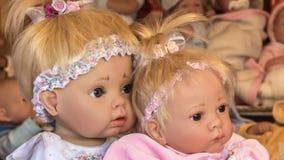Dolls for children stock video