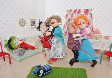 Dolls dancing Royalty Free Stock Photography