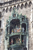 The dolls dancing in the Town Hall  clock, Marienplatz in Munich, Germany.  Stock Photo