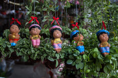 Dolls and decorative trees, trees in gardens,Tree market. Royalty Free Stock Photography