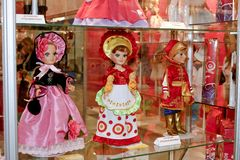 Dolls in different dresses Royalty Free Stock Images