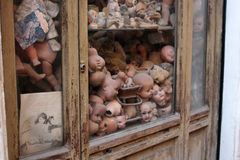 Dolls on a display in rome, italy. Display of an artisan in rome, italy Stock Image