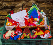 Dolls, doilies and potholders Royalty Free Stock Image