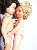 Dolls embrace Royalty Free Stock Photos