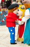 Dolls embrace Stock Photo