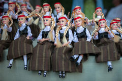 Dolls in folk costumes Royalty Free Stock Photos