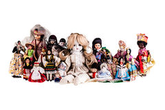 Dolls group Royalty Free Stock Photography