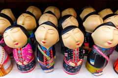 Dolls hill tribe,Ceramic dolls, souvenir. stock photo