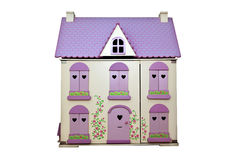 Dolls House. Isoated on a white background Royalty Free Stock Photos