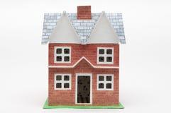 Dolls house isolated on white Royalty Free Stock Image