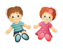 Dolls  illustration Stock Photo